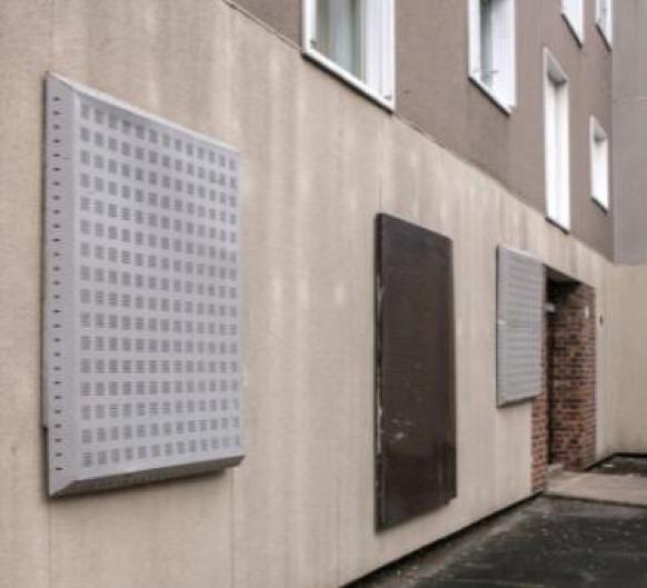 Protezione temporanea di finestre - schermi d'acciaio