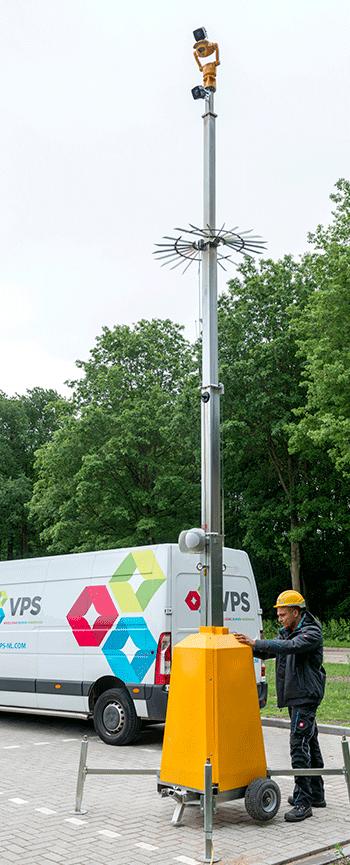 JCB Smart Tower - Sistema CCTV per sicurezza temporanee